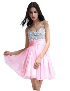LM Off-the-Shoulder Cocktail Dresses V Neck Beaded Homecoming Prom Gown LM028 at Amazon Women's Clothing store: