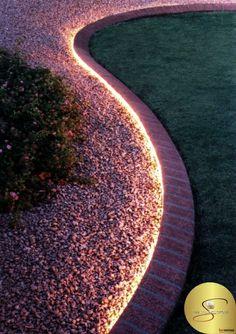 Simple yet Elegant yard lighting done with Rope Lights! [ Sliding-doors-hardware.com ] #backyard #hardware #slidingdoor