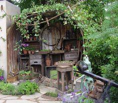 Outdoor garden shed