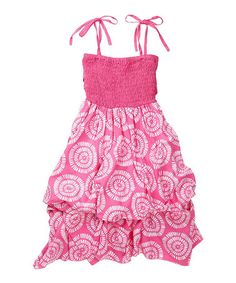 Love this Pink & White Sun Infinity Dress - Girls on #zulily! #zulilyfinds