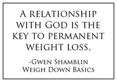 This was definitely the key to my weight loss! And through God and this message i've kept it off for years!! :)