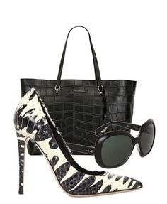 Le Silla Black and White Pumps SS 2015 Shoes, Style, Outfit, Sunglasses, Bag, Fashion
