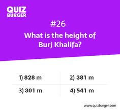 What is the height of Burj Khalifa?