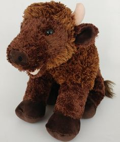 """Excellent Rare Find!! No rips, stains or tears. Marking on tush tag only. Review all pictures. Happy Shopping!<br/><br/>BABW 16"""" Build A Bear Workshop Buffalo Bison Brown Retired Limited Edition Plush No internal sound box Made in China Material: 100% Polyester Fiber Fill All items come from a smoke free home. Very Good Condition- This condition indicates that the item is in very good used or gently played with Previo..."""