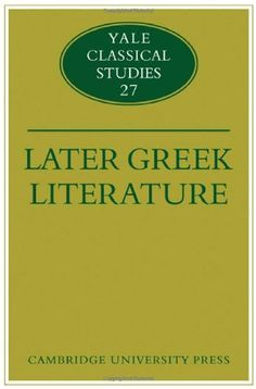 Later Greek literature / edited by John J. Winkler and Gordon Williams. -- Digital print. -- Cambridge : Cambridge University Press, 2010 en http://absysnetweb.bbtk.ull.es/cgi-bin/abnetopac01?TITN=511999