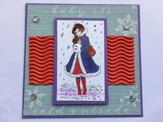 Lemon Shortbread - Winter Muff Girl DT card for latest challenge at The Crafty Addicts Digital Stamps, Shortbread, Advent Calendar, Lemon, Challenge, Crafty, Holiday Decor, Winter, Frame