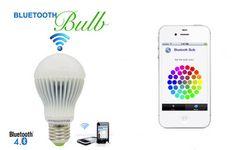 Next-Gen Bluetooth Bulb Controllable Via Smartphone.