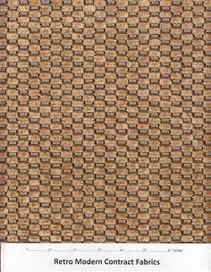 Pollack Upholstery Fabric Checkered Velvet Dark Honey Brown AL10
