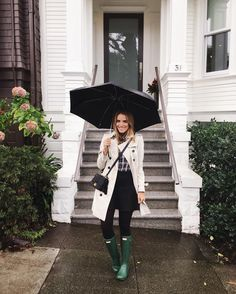 Gal Meets Glam wears the Original Tall on a rainy day in San Francisco