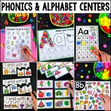 Phonics and Alphabet Centers by My Teaching Pal Activity Centers, Literacy Centers, Kindergarten Reading, Numbers Kindergarten, Phonics Reading, Teaching Reading, Learning Activities, Alphabet Activities, Kindergarten Activities