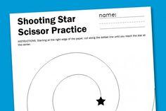 Shooting Star Scissor Worksheet | Paging Supermom