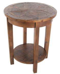 "Our Revive Collection is made using reclaimed wood and features handcrafted design. Using Reclaimed Timber reduces the impact on the environment. Reclaimed wood wears its history proudly and is long-lasting. The Revive 19"" diameter round accent table is versatile for any space in your home. Attractive design with functional shelf adds a stylish element to your room's décor."