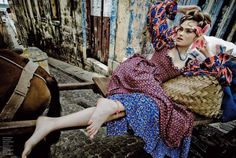 Brazil' Sophie Vlaming by Jean-François Campos for Flair Italy March 2011. Jean-François was born in Aix-en-Provence in 1966. He embarked on his career as a photographer in 1988 during a visit to Berlin. He divides his time between New York and Paris. Styling by: Vittoria Cerciello, Model: Sophie Vlaming  cuded.com