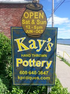 Kay Campbell's pottery shop in Ferryville, WI