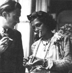 Coco Chanel and Salvator Dalì
