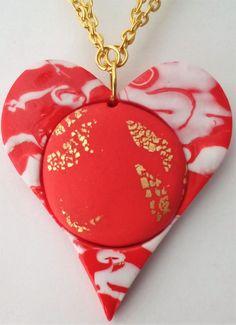 """Caméeketten - Kette mit Anhänger """"teamo"""" - ein Designerstück von SoniavonLietz bei DaWanda Schmuck Design, Etsy, Christmas Ornaments, Holiday Decor, Art Gallery, Boards, Heart, Awesome, Handmade"""