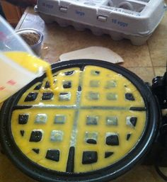 How to Make Scrambled Eggs With a Waffle Maker by Danika LoCicero