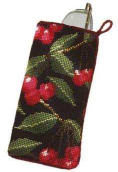 Black Cherry Glasses/Spectacle Case tapestry kit