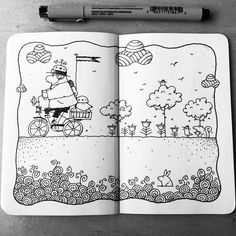 Dave Garbot — A Short Ride #illustration #drawing #penandink...