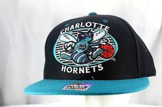 Charlotte Hornets Black/Teal Baseball Cap Snapback | Clothing, Shoes & Accessories, Men's Accessories, Hats | eBay!