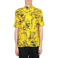 Haider Ackermann Floral silk shirt (15.910 ARS) ❤ liked on Polyvore featuring men's fashion, men's clothing, men's shirts, men's casual shirts, giallo, mens yellow shirt, mens floral shirts, mens short sleeve button down collar dress shirts and mens casual short-sleeve button-down shirts