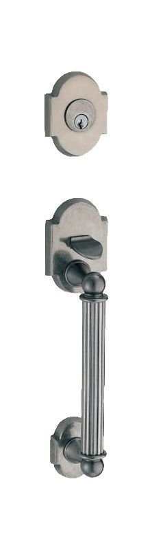 Fusion P9DUMMY Dummy Handleset with a Ribbon Handle Featuring a Two-Piece Bevele Antique Pewter Handleset Dummy Set