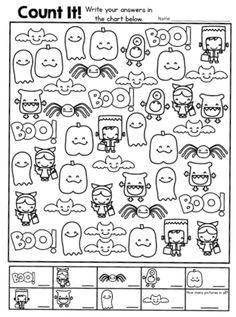 A Fun Halloween Freebie: Count It! A Fun Halloween Freebie: Count It! Theme Halloween, Halloween Activities, Holiday Activities, Activities For Kids, Halloween Worksheets, Easy Halloween, Halloween Crafts, Kindergarten Halloween Party, Haunted Halloween