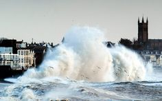 Massive waves pummel the seafront at Penzance, Feb 10, 2014