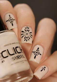 Love the design....not a fan of nude polish. I'd change the color to white or green maybe.