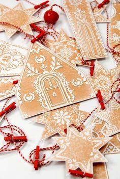 Gingerbread Christmas Decor, Diy Christmas Garland, Diy Garland, Noel Christmas, Winter Christmas, Vintage Christmas, Christmas Decorations, Pink Christmas, Diy Christmas Crackers