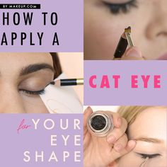 how to apply a cat eye for every eye shape // monolids, hooded and almond eyes