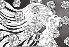 Rose and blood by Jessica-Prando.deviantart.com on @DeviantArt