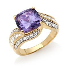 Shop Victoria Wieck 5.72ct Absolute™ Simulated Alexandrite Bypass Ring at HSN mobile