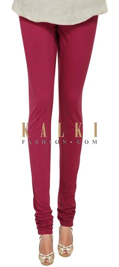 Buy Online from the link below. We ship worldwide (Free Shipping over US$100) Price- $9 Click Anywhere to Tag http://www.kalkifashion.com/poppy-red-cotton-hosiery-legging-only-on-kalki.html