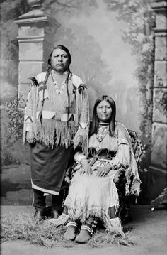Chief Ouray snd wife Chipeta (Ute) and after he helped the white man, we took away his land....