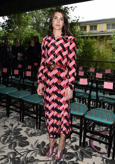 Charlotte Casiraghi attend the Gucci show during the Milan Fashion Week Spring/Summer 2016 on September 23, 2015 in Milan, Italy.