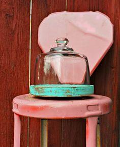 Vintage glass dome