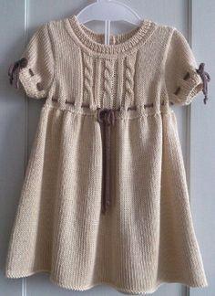 Купить Платьице для девочки ''Нежность'' - платье, вязаное платье, вязание на заказ, платье для малышки