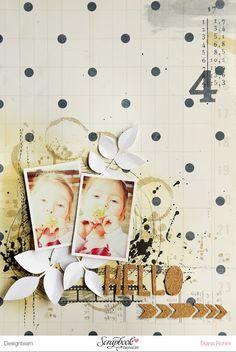 DT Scrapbook Werkstatt - Crate Paper - Journey & Craft Market - Layout von Diana Rohm