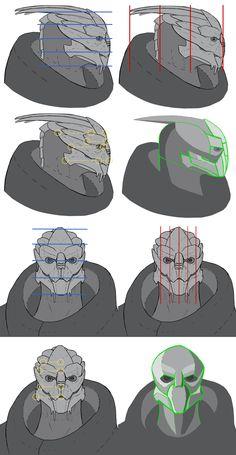 Turian Facial Artist References by ThunderheadFred on DeviantArt Mass Effect Ships, Mass Effect Garrus, Mass Effect Art, Alien Character, Character Art, Character Design, Mass Effect Characters, Halo Armor, Mass Effect Universe