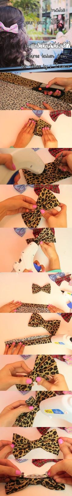 This is by Macbarbie07  I took the pictures from her video so I can make this tutorial for DIY bows.