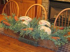 A Primitive Place & Country Journal Magazine: March 2011... spring centerpiece