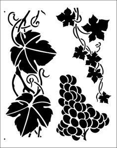 Grapevine stencil from The Stencil Library BUDGET STENCILS range. Buy stencils online. Stencil code TP3.