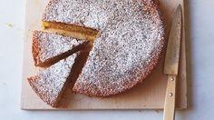 "Extra-virgin olive oil, eggs, and milk make this Italian-inspired cornmeal cake extra-moist. And it's gluten-free, to boot. Martha made this recipe on ""Martha Bakes"" episode Lemon Desserts, Lemon Recipes, Delicious Desserts, Cake Recipes, Dessert Recipes, Yummy Food, Gluten Free Baking, Gluten Free Desserts, Martha Stewart"