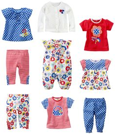Style overview for Newborn Girls Summer 2013 Collection.