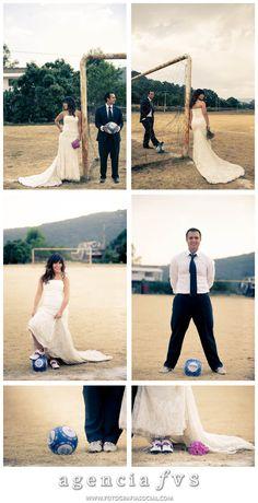 Futbol.... Oh so wanna do a trash the dress like this