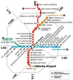View the MARTA station rail map below or view MARTA stations in an