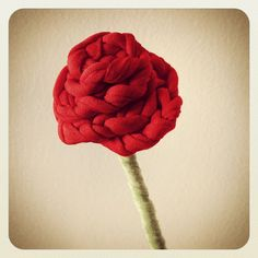 Crochet Rose with T-Shirt Yarn - Tutorial  ❥ 4U // hf