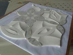 Spring Blossom Flower Waterjet Mosaic Premium Marble & Shell 3D Tile