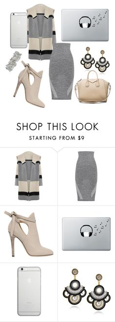 """""""Grey"""" by yasmine-tuller ❤ liked on Polyvore featuring Vince, LNDR, Jimmy Choo, Music Notes, Native Union and Givenchy"""